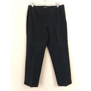 Lafayette 148 10 Black Ankle Cropped Pants